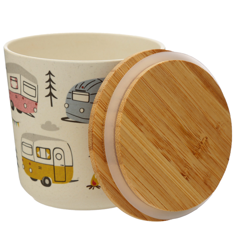 Small Bamboo Composite Storage Jar Wildwood Caravan