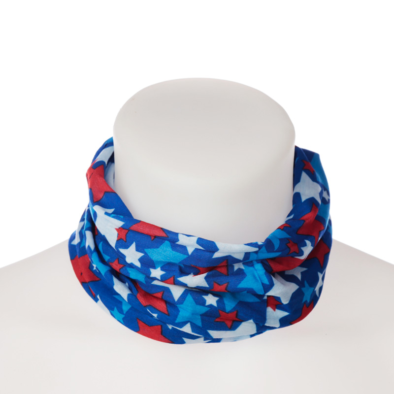 Stars Purple Neck Scarf Face Covering