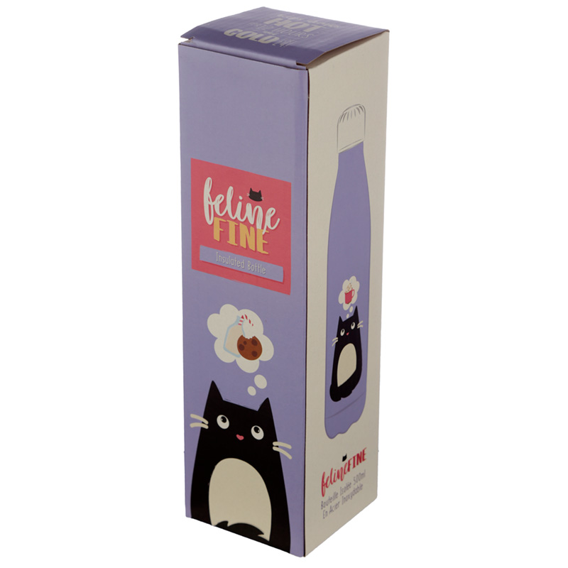 Feline Fine Cat Stainless Steel Insulated Drinks Bottle