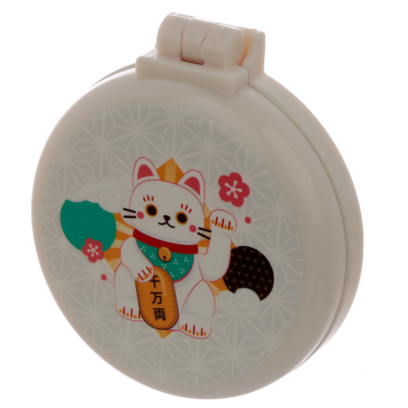 Fun Lucky Cat Maneki Neko Foldable Travel Hair Brush