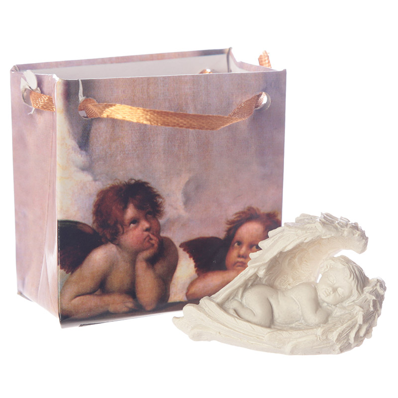 Cute Cherub in Wings Collectable in a Mini Gift Bag