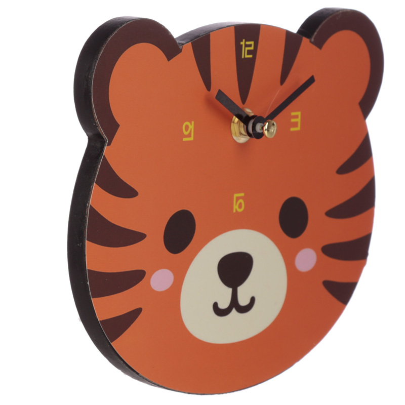 Cute Tiger Shaped Wall Clock