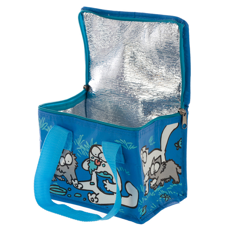 Blue Simon's Cat and Kitten Lunch Box Cool Bag