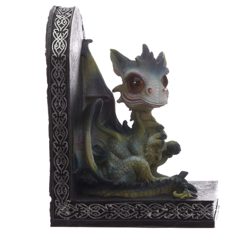 DRG475 Cute Baby Sweet Dreams Pair of Dragon Bookends