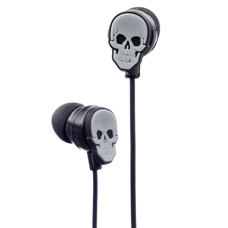 Funky Earphones - Skulls and Roses Design