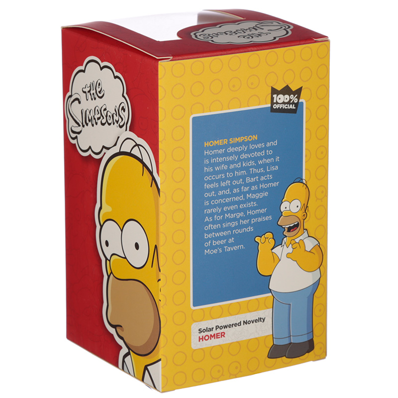 Licensed Homer Simpson Solar Powered Pal