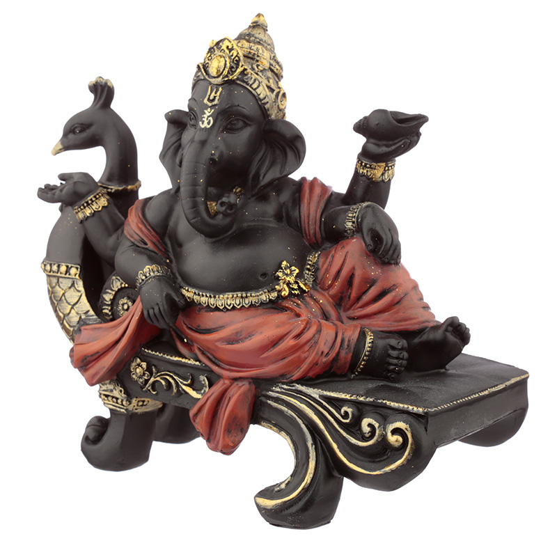 Decorative Ganesh Figurines - Peacock Bench