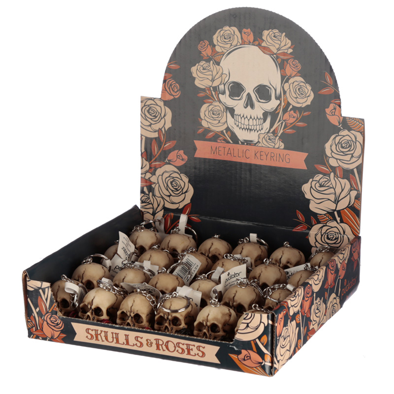 Collectable Skulls and Roses Keyring