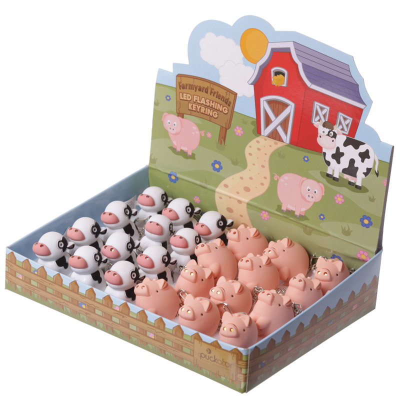 Cute LED Farmyard Key Ring