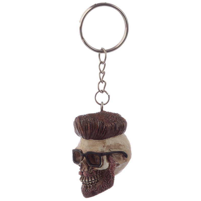 Collectable Hipster Skull Keyring