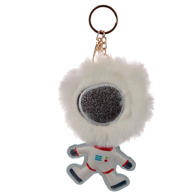 Fun Collectable Pom Pom Keyring - Space Cadet Astronaut