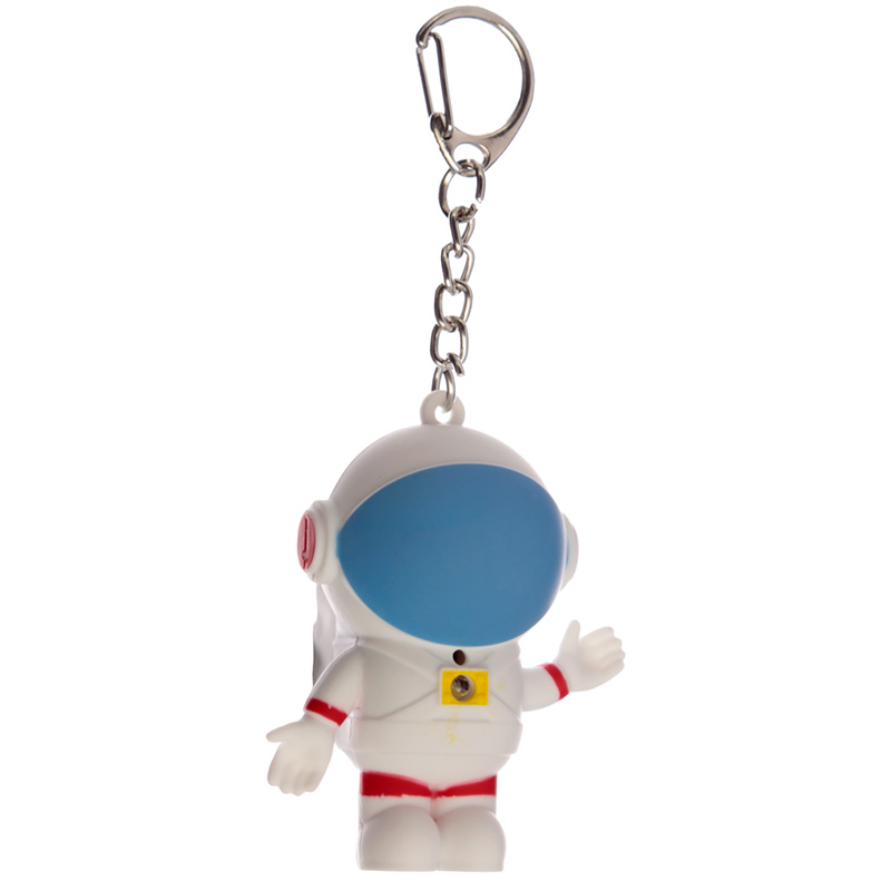 Rocket and Space Cadet Retro Light and Sound LED Keyring