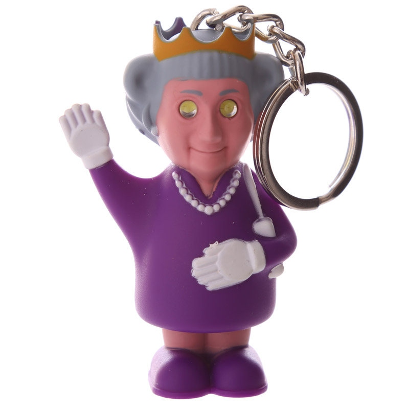 Rule Britannia Light and Sound Queen Keyring