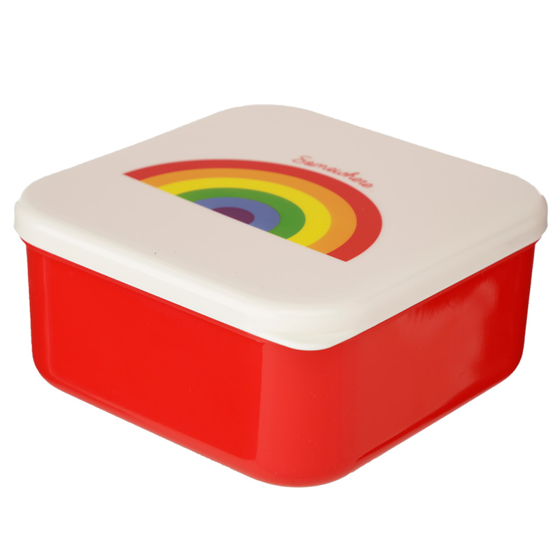 Somewhere Rainbow Set of 3 Reusable BPA Free Plastic Lunch Boxes