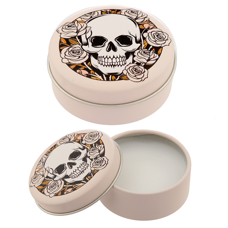 Funky Lip Balm in a Tin - Skulls and Roses Design