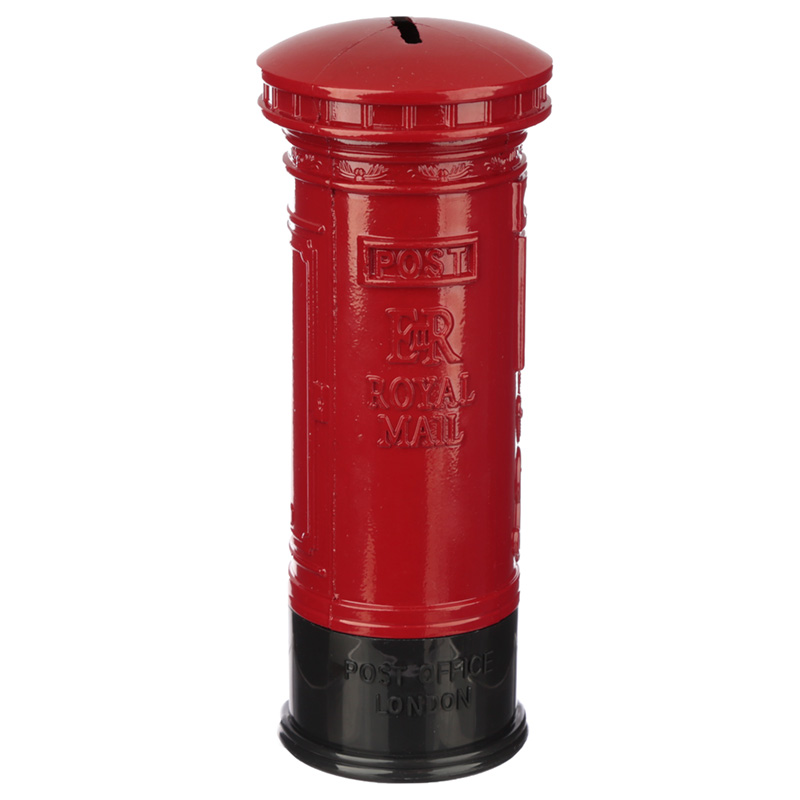 London Souvenir Pencil Money Box - Large Red Post Box