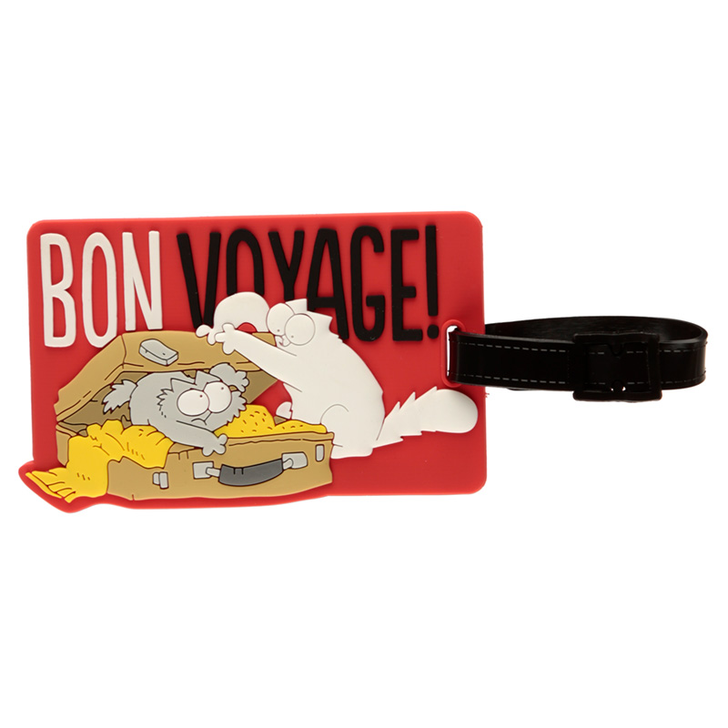 Fun PVC Luggage Tag - Simon's Cat Design