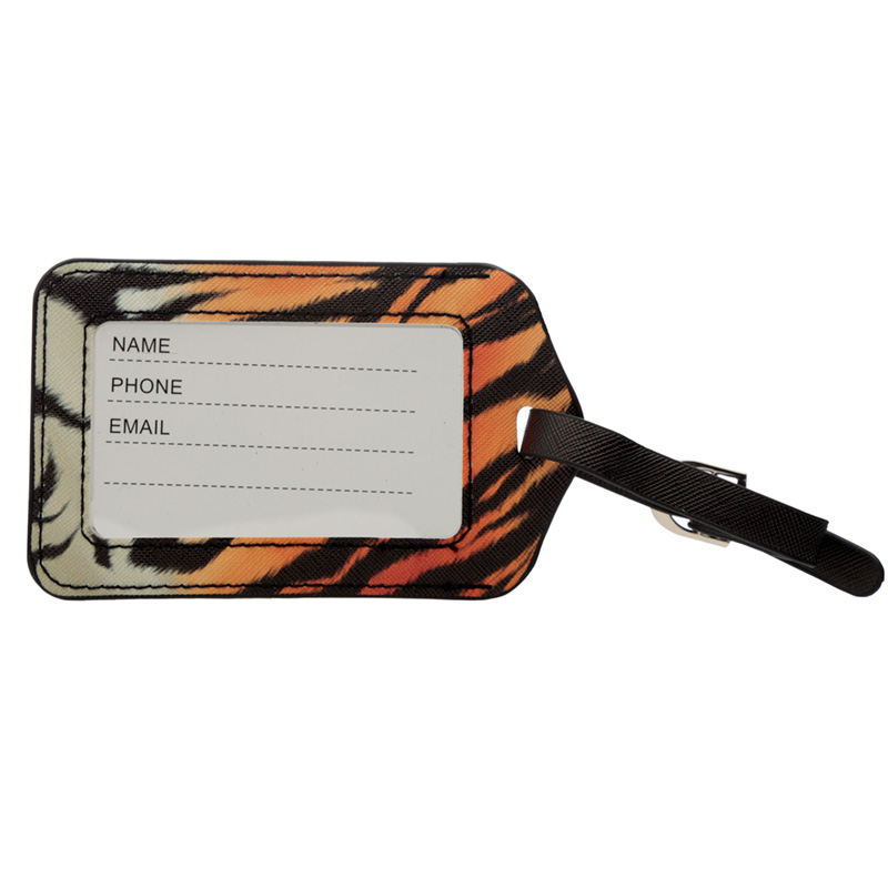 Fun Novelty Big Cat Spots and Stripes Luggage Tag and Passport Cover Set
