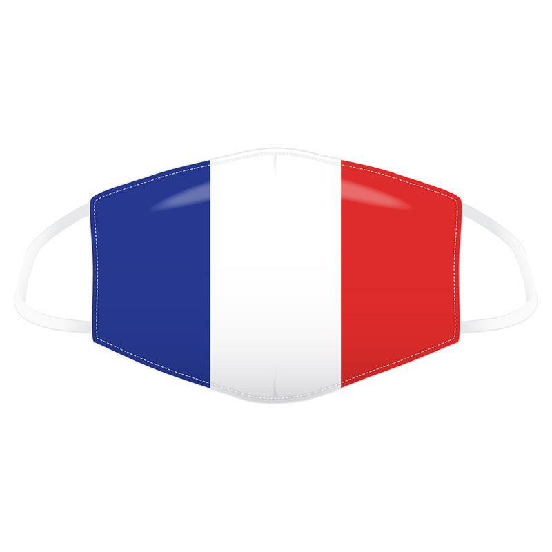 French Flag Reusable Face Covering - Large