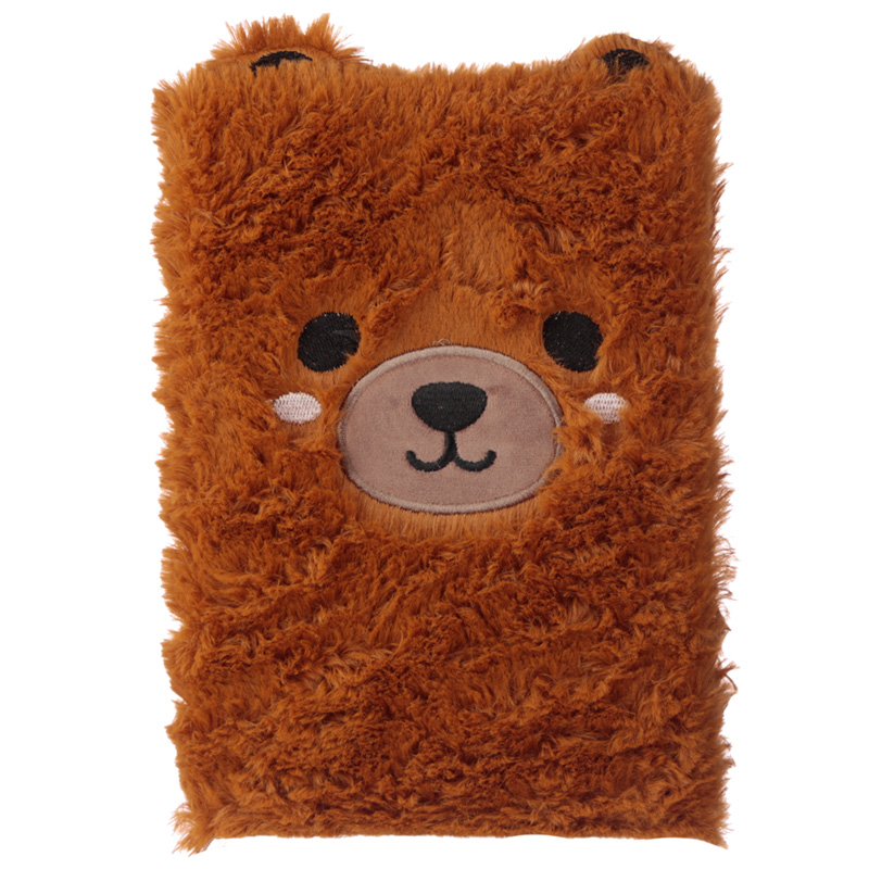 Fluffy Plush Notebook - Cute Bear Design