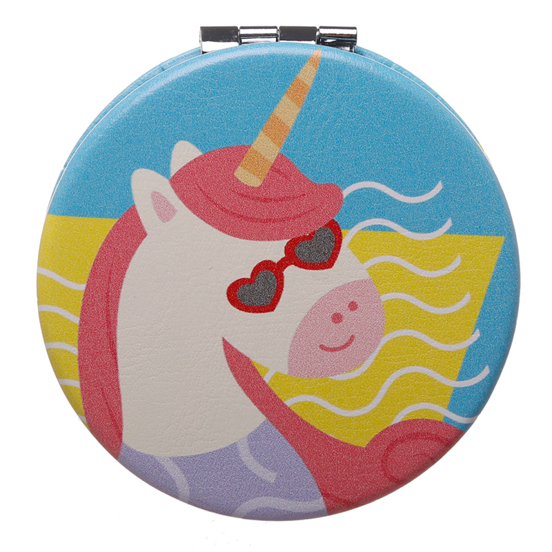 Fun Collectable Unicorn Vacation Vibes Compact Mirror