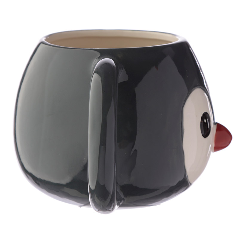Ceramic Animal Shaped Head Mug - Penguin