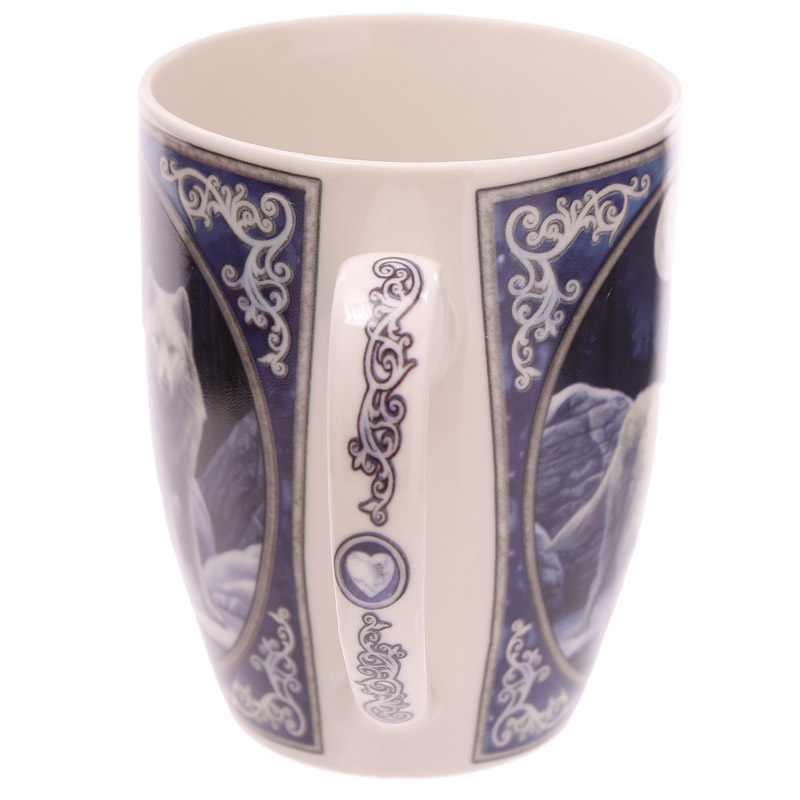 Lisa Parker Winter Warrior Wolf Design New Bone China Mug