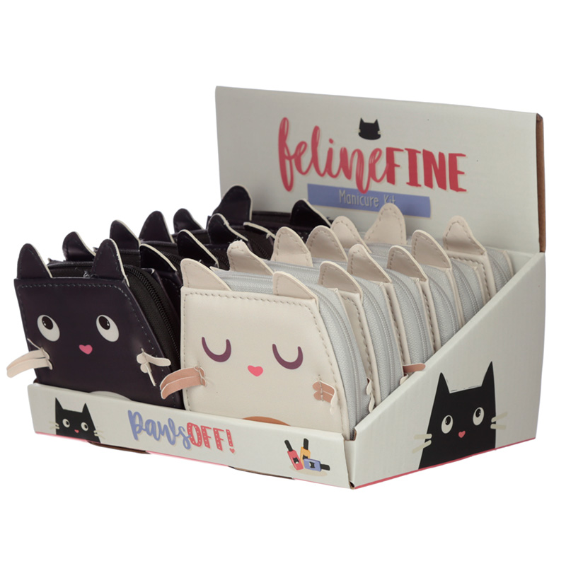 Fun Shaped Feline Fine Cat Manicure Set