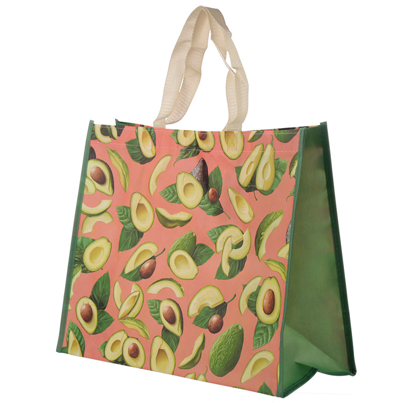 Fun Avocado Durable Reusable Shopping Bag