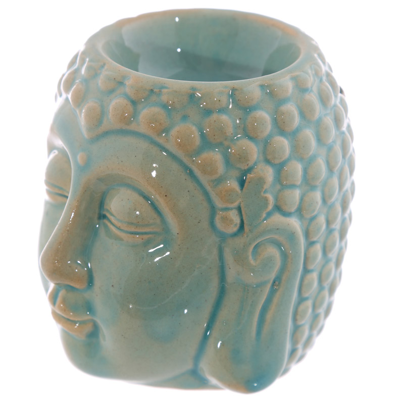 Ceramic Crackled Glaze Buddha Head Oil Burner