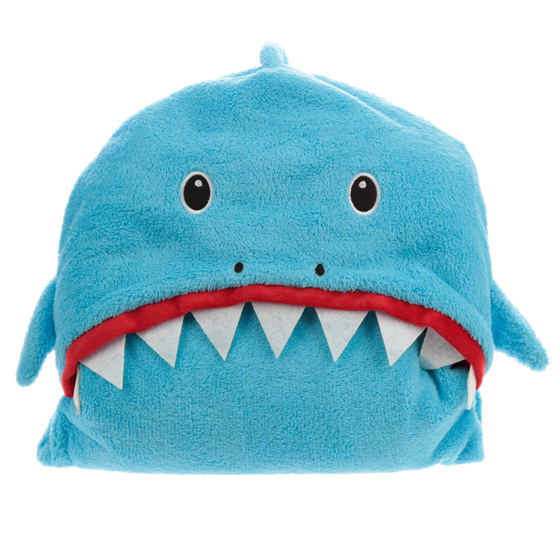Plush Blue Shark Cafe Wearable Blanket