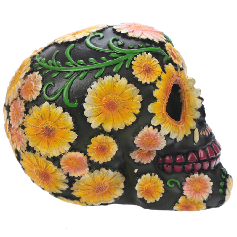 Fantasy Day of the Dead Daisy Skull