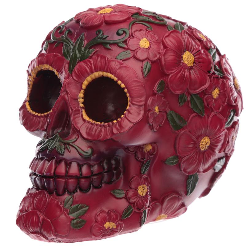 Fantasy day of the dead pink flower skull 24117 purple puffin fantasy day of the dead pink flower skull mightylinksfo