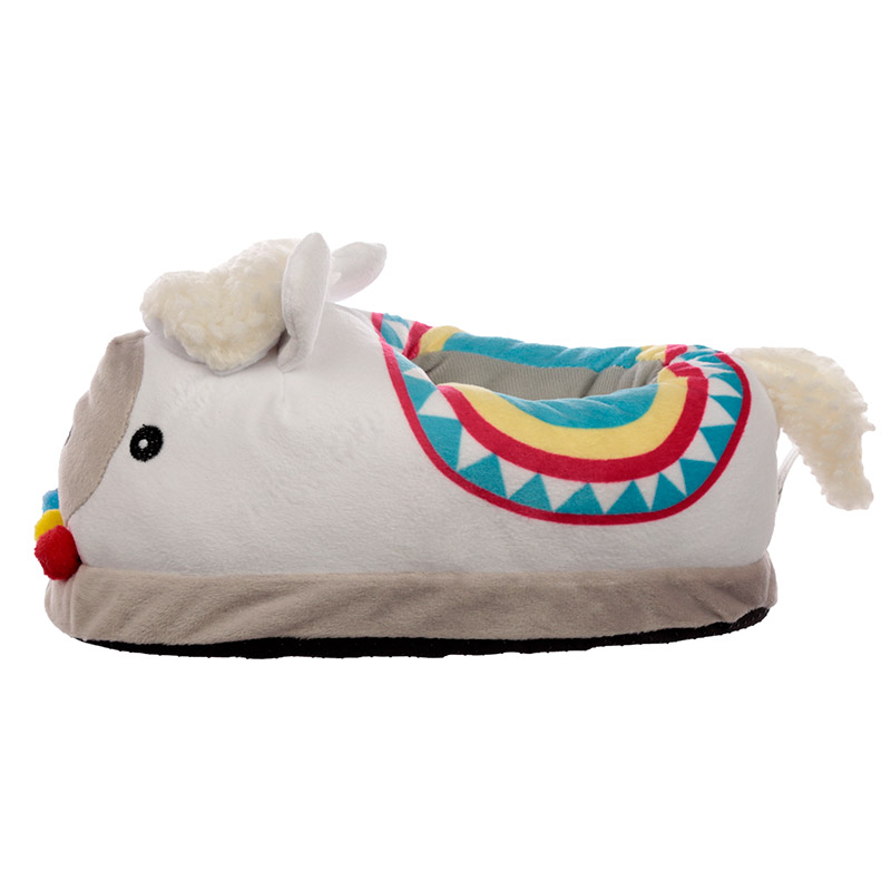 Llama Unisex One Size Pair of Plush Slippers