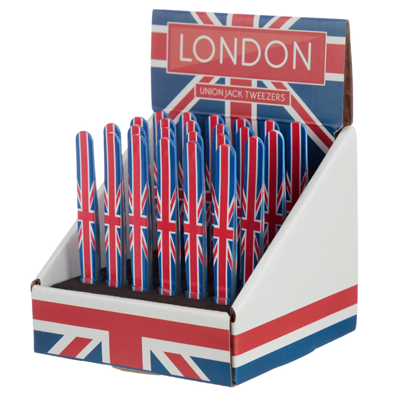 Fun Novelty Union Flag Metal Tweezers