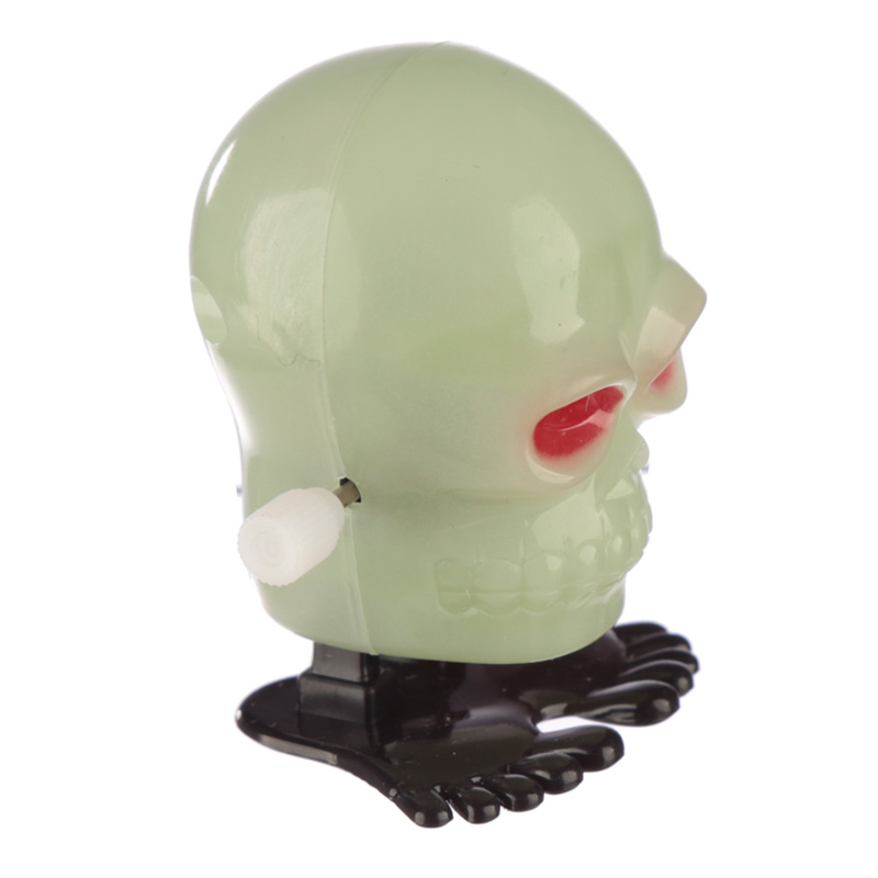 Fun Kids Wind Up Skull - Glow in the Dark