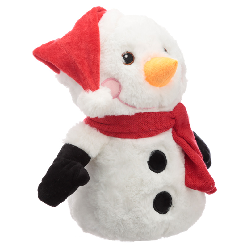 Fun Christmas Snowman Plush Door Stop