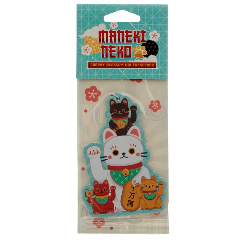 Maneki Neko Lucky Cat Cherry Blossom Scented Air Freshener