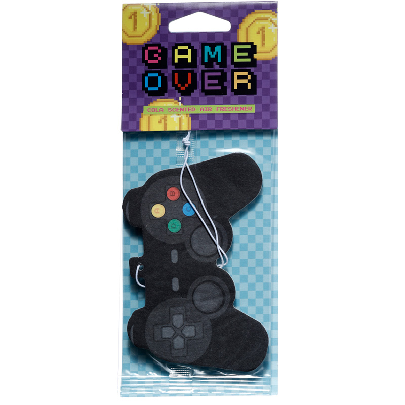 Retro Gaming Popcorn Scented Game Over Air Freshener