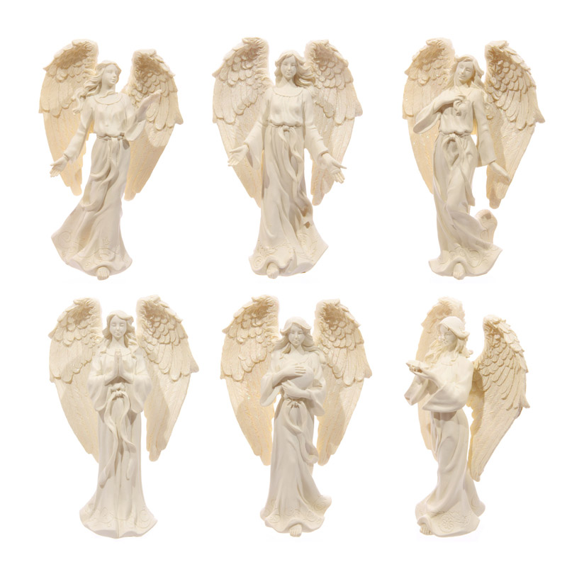 Decorative Cream Angel Standing 17cm Figurine