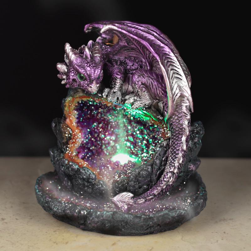Fantasy LED Backflow Incense Burner Crystal Baby Dragon