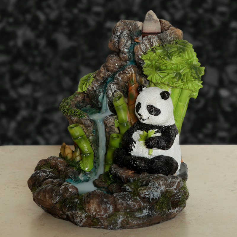 Backflow Incense Burner Panda Bamboo Waterfall