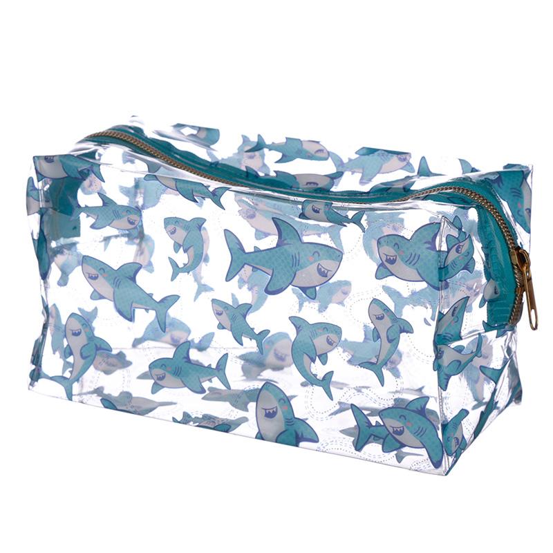 Handy Clear PVC Wash Bag Shark Design