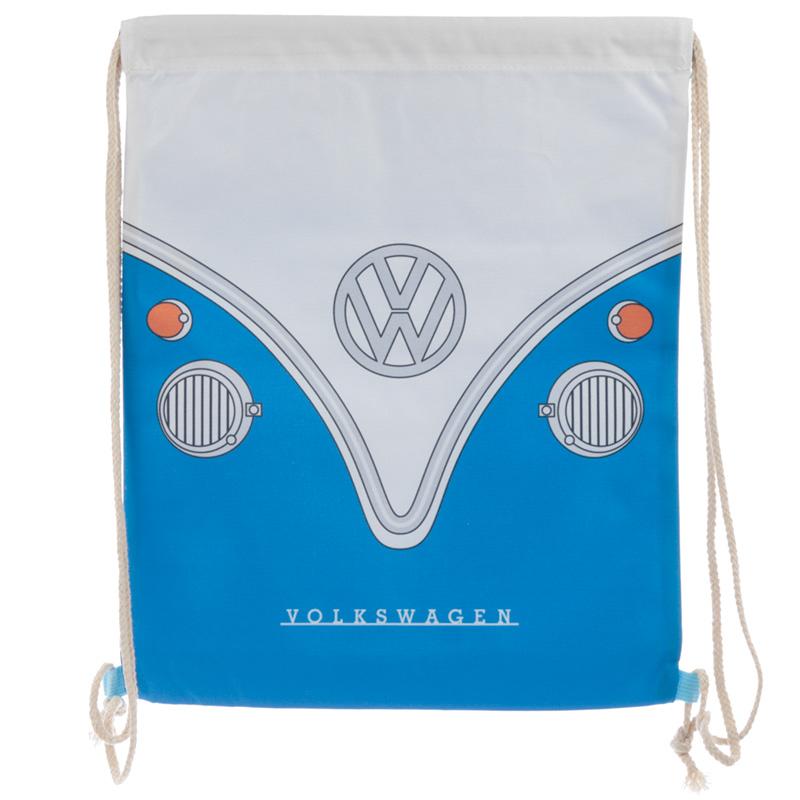 Handy Drawstring Bag Blue Volkswagen VW T1 Camper Bus
