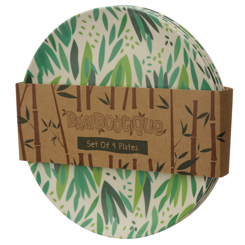 Bamboo Composite Willow Reusable Plate Set of 4