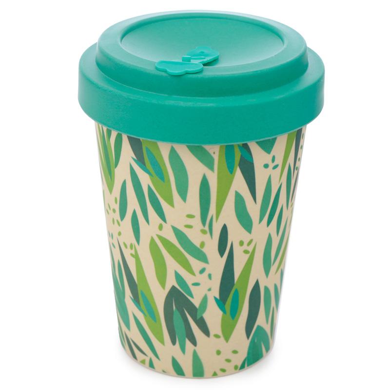 Bamboo Composite Willow Screw Top Travel Mug