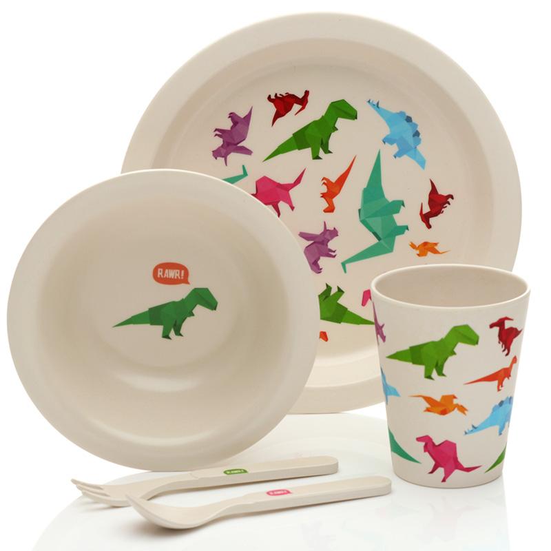 Bamboo Composite Dinosaur Kids Dinner Set