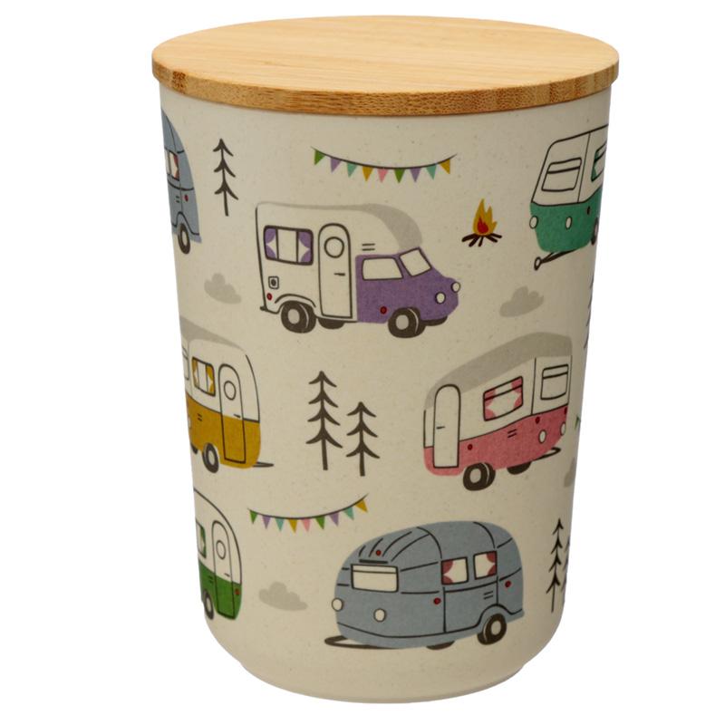 Medium Bamboo Composite Storage Jar Wildwood Caravan