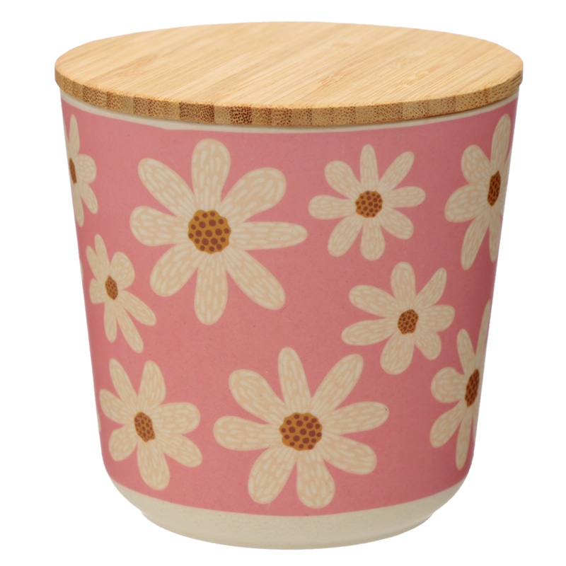 Small Bamboo Composite Storage Jar Oopsie Daisy