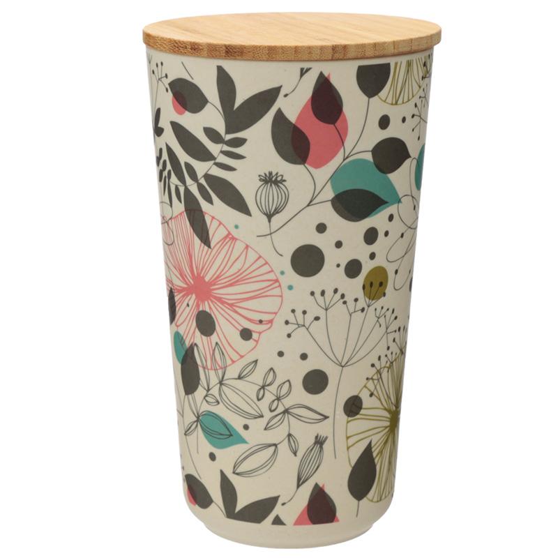 Large Bamboo Composite Storage Jar Wisewood Botanical